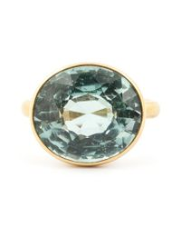 Marie-hélène De Taillac | Metallic 22kt Gold Green Tourmaline Ring | Lyst
