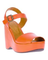 Chie Mihara Orange Facelift Sandal