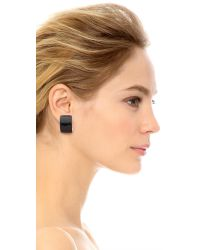 Kenneth Jay Lane | Huggie Earrings - Black | Lyst