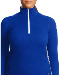 Lauren by Ralph Lauren | Blue Plus Waffle-knit Mockneck Pullover | Lyst