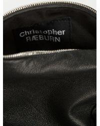 Christopher Raeburn Black Bear Shape Cross Body Bag