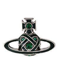 Vivienne Westwood - Green Bloomsbury Bas Relief Earrings - Lyst