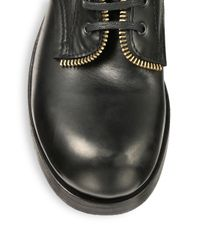 Alexander McQueen - Black Gold Zippered Leather Boots for Men - Lyst