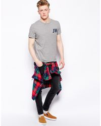 Jack Wills Gray Westmore Mountain Tshirt for men