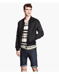 H&M Black Twill Jacket for men