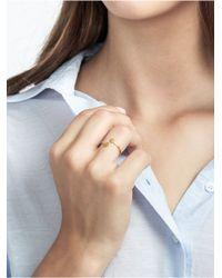 BaubleBar Metallic Initial Wraparound Ring