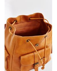 BDG - Orange Leather Pocket Backpack - Lyst