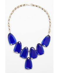 Kendra Scott | Blue 'harlow' Necklace - Cobalt/ Gold | Lyst
