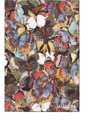 Valentino Multicolor 'camubutterfly' Silk Scarf
