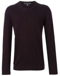 John Varvatos - Pink Crew Neck Sweater for Men - Lyst