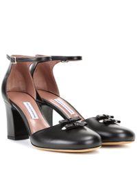 Tabitha Simmons Black Amelia Leather Pumps