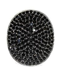 Adornia | Black Spinel And Sterling Silver Farrah Ii Ring | Lyst