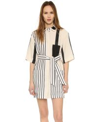 Acne | Black 'cabell' Stripe Shirtdress | Lyst