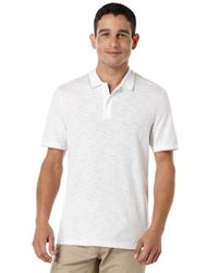 Perry Ellis | White Slub Stripe Polo Shirt for Men | Lyst