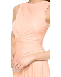 Alexander Wang Natural Sleeveless Draped Dress - Nectar