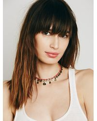 Free People | Red Womens Rachel Beaded Collar | Lyst