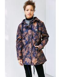 f4ae876eed4eb Adidas Originals - Multicolor Leaf Camo Parka - Lyst