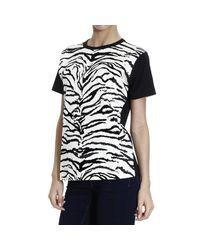 Fausto Puglisi - Black Printed Cotton T-Shirt - Lyst