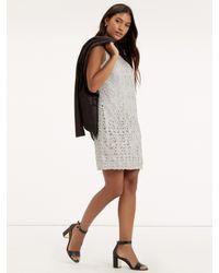 Oasis Metallic Lace Shift Dress