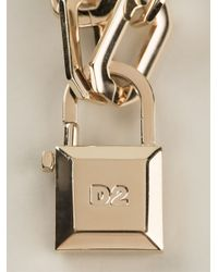 DSquared² | Metallic Padlock Necklace | Lyst