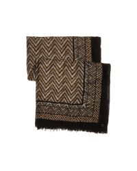 Calvin Klein | Brown Chevron Border Wrap | Lyst