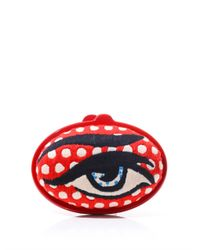 Sarah's Bag Eggzy Eye Embroidered Clutch