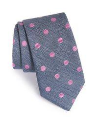 Ted Baker | Blue 'tussah Dot' Silk Tie for Men | Lyst