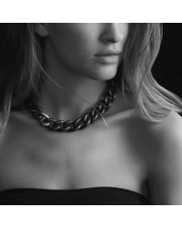 David Yurman - Black Gold Curb Link Necklace - Lyst