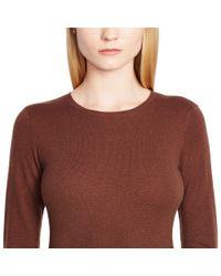 Ralph Lauren Black Label - Brown Cashmere Crewneck Sweater - Lyst