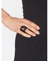 Monies | Black Cutout Ring | Lyst