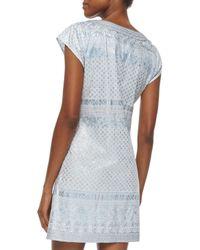 Calypso St. Barth Metallic Ro Multipattern Caftan Dress