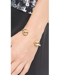 Giles & Brother Metallic Double Twist  Ball Cuff Bracelet  Gold