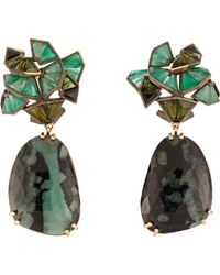 Nak Armstrong | Black Mixed-gemstone Drop Earrings | Lyst
