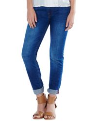 Joie Blue Mid Rise Rolled Skinny Pant