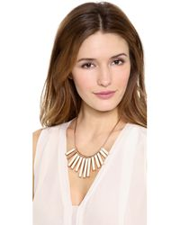 Marc By Marc Jacobs Natural Geometric Stick Bib Necklace