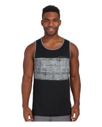 Rip Curl | Black Chest Stripe Tank Top for Men | Lyst