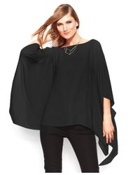 Vince Camuto - Black Butterfly-sleeve Chiffon Poncho - Lyst