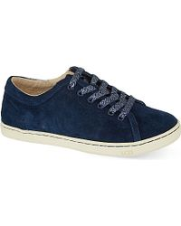 60ed709c6fb Women's Blue Tomi Suede Lace Up Trainers