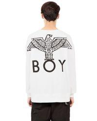 BOY London | White Boy Eagle Printed Cotton Sweatshirt | Lyst