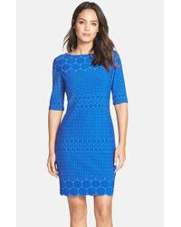 Julia Jordan - Blue 'rio' Knit Body-con Dress - Lyst