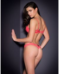 Agent Provocateur Pink Lolah Thong Coral