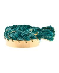 Aurelie Bidermann | Green Copacabana Gold-plated Wide Cuff | Lyst