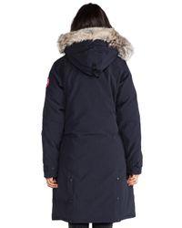 Canada Goose | Blue Kensington Fur-hood Parka | Lyst