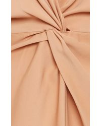 Rosetta Getty Pink Cady Kimono Twist Dress