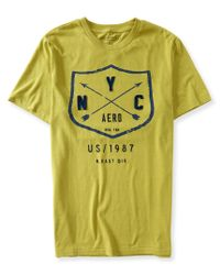 Aéropostale | Green Nyc Arrow Shield Logo Graphic T for Men | Lyst