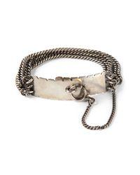 Ann Demeulemeester | Metallic Multiple Chains Bracelet for Men | Lyst