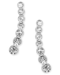 Anne Klein - Metallic Linear Crystal Ear Cuff Earrings - Lyst