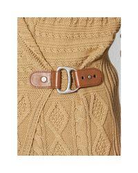 Lauren by Ralph Lauren Natural Wrap Shawl-Collar Sweater Vest