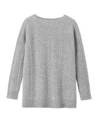 Toast | Gray Boiled Wool Cable Sweater | Lyst