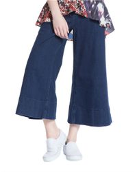 Plenty by Tracy Reese Blue Cropped Pants